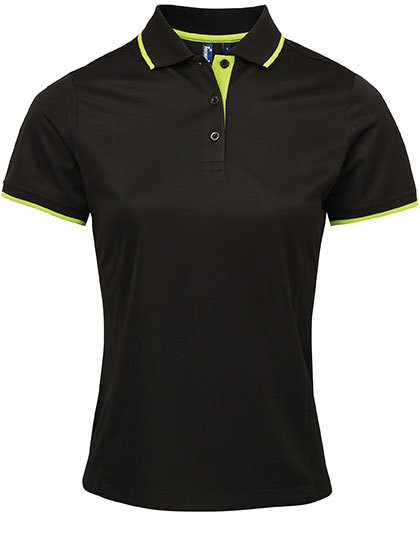 PW619 Premier Workwear Ladies Contrast Coolchecker Polo